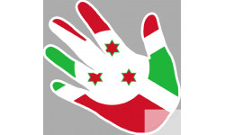 drapeau Burundi main