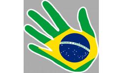drapeau Bresil main