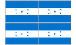 Stickers / autocollants drapeau Honduras