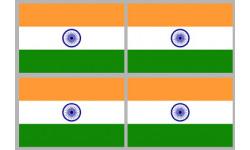 Stickers / autocollants drapeau Inde
