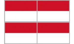 Stickers / autocollants drapeau Indonésie
