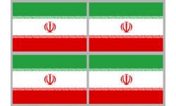 Stickers / autocollants drapeau Iran