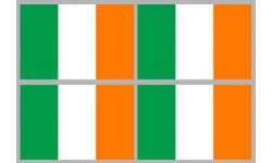 Stickers / autocollants drapeau Irlande