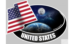 autocollant UNITED STATES