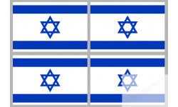 Stickers / autocollants drapeau Israël