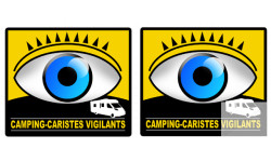 Stickers autocollants camping-caristes vigilants