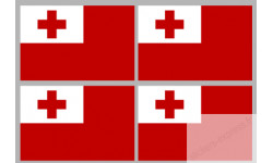 Sticker / autocollant : drapeau officiel Tonga