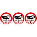 Sticker / Autocollant : Alarme pour camping car - 3x5cm