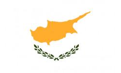 Autocollants : Drapeau Chypre