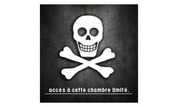 stickers / autocollant accès chambre tête de mort