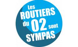 Autocollants : sticker autocollant les routiers 02 de l'Aisne sont sympas