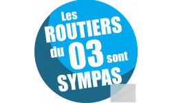 Autocollants : sticker autocollant les routiers 03 de l'Allier sont sympas