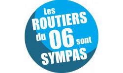 Autocollants : sticker autocollant les routiers 06 des Alpes Maritimes sont sympas