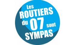 Autocollants : sticker autocollant les routiers 07 de l'Ardèche sont sympas