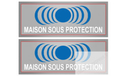 Stickers Autocollants serie maison sous protection 2