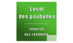 Stickers / autocollant local des poubelles