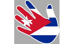 autocollant main Cuba