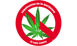 Autocollants : sticker autocollant Contre la légalisation de la marijuana