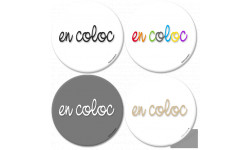 Autocollants : Stickers / autocollants En coloc